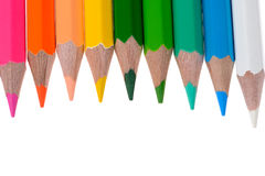 Colour pencils isolated Royalty Free Stock Image