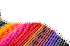 Colour pencils isolated Stock Photography