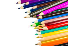 Colour pencils isolated on white background. Colour pencils isolated white background royalty free stock images