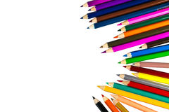 Colour pencils isolated on white background. Colour pencils isolated white background royalty free stock photos