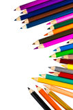 Colour pencils isolated on white background. Colour pencils isolated white background royalty free stock photography
