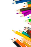 Colour pencils isolated on white background. Colour pencils isolated white background stock photo