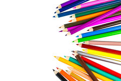 Colour pencils isolated on white background Stock Images