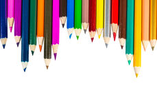 Colour pencils isolated on white background Royalty Free Stock Photography