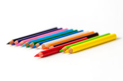 Colour pencils. Isolated on white background Royalty Free Stock Photos
