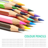 Colour pencils isolated on white background. Colour pencils isolated on a white background stock photography