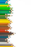 Colour pencils isolated on white background.  stock photo