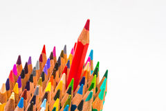 Colour pencils isolated on white background.  royalty free stock images