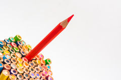 Colour pencils isolated on white background.  stock photography