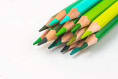 Colour pencils isolated on white background.  stock photos