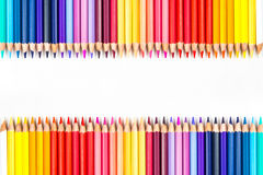Colour pencils isolated on white background.  royalty free stock photos