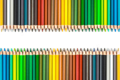 Colour pencils isolated on white background.  stock image