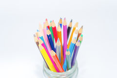 Colour pencils isolated on white background Stock Image