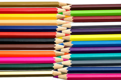 Colour pencils isolated on white background close up.  stock photo