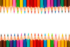 Colour pencils isolated on white background Royalty Free Stock Image