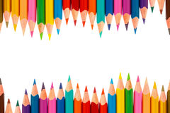 Colour pencils isolated on white background Stock Photo