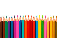 Colour pencils isolated on white background Royalty Free Stock Photos