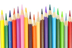 Colour pencils isolated on white background Royalty Free Stock Photo