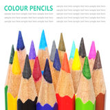 Colour pencils isolated on white background. Colour pencil isolated on white background royalty free stock photo
