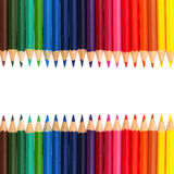Colour pencils isolated on white background. Colour pencil isolated on white background royalty free stock photos