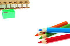Colour pencils isolated on white background. Colour pencil isolated on white background stock image