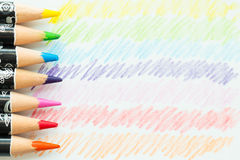 Colour pencils macro Stock Images