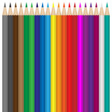 Colour pencils set. On the white background royalty free illustration