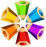 Colour pencils star Royalty Free Stock Photos
