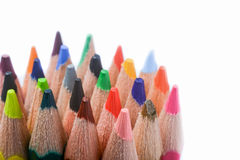 Colour pencils. Of various colors on white background Royalty Free Stock Images
