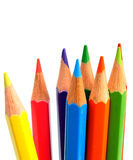 Colour pencils on a white background. Stock Images