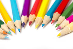 Colour pencils. On white background Stock Images