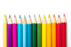 Colour pencils. On white background Royalty Free Stock Image