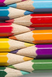 Colour pencils. On white background Royalty Free Stock Photos