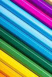 Colour pencils. On white background Royalty Free Stock Photo