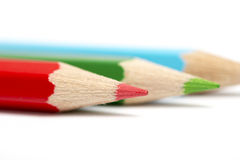 Colour pencils. On white background Royalty Free Stock Images