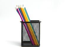 Colour pencils. On white background Stock Photos