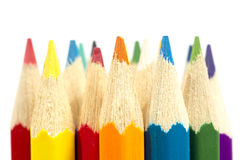 Colour pencils. On white background Stock Photo