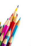 Colour pencils. On white background Royalty Free Stock Photography