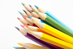 Colour pencils. On white background Stock Photography