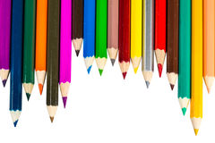 Colour pencils on white background. Colour pencils white background royalty free stock image