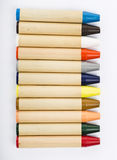 Colour pencils on white background close up Royalty Free Stock Images
