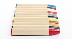 Colour pencils on white background close up Royalty Free Stock Image