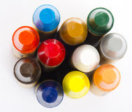 Colour pencils on white background close up Stock Images