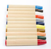 Colour pencils on white background close up Stock Photography