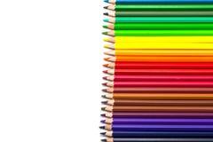Colour pencils on white background. Colour pencils isolated on white background royalty free stock photos