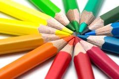 Colour pencils on white background. Colour pencils isolated on white background royalty free stock images