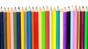 Colour pencils on white background. Colour pencils used on white background royalty free stock photo