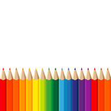 Colour pencils on white background Stock Images