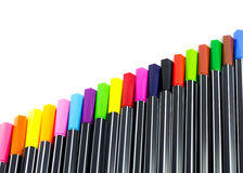 Colour pens Stock Photography