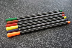 Colour pens Royalty Free Stock Photos
